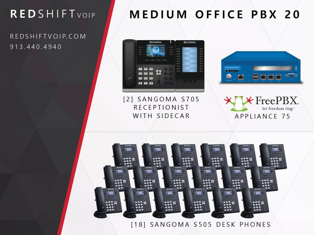 Medium Office PBX 20 – Redshift VoIP